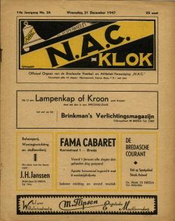 NAC Klok 31 December 1947