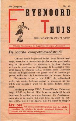 Programma Feyenoord - ADO 1948