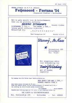 Programma Feyenoord - Fortuna '54