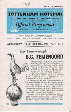 Programma Tottenham Hotspur - Feyenoord