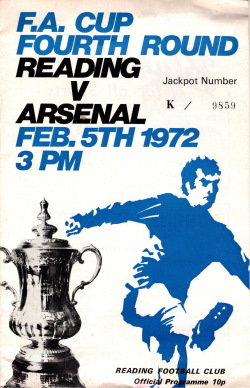 Programma Reading - Arsenal