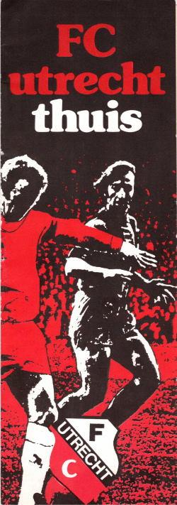 Programma FC Utrecht - Feyenoord aug 1975