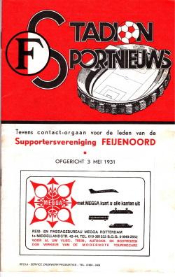 Programma Feyenoord-NAC 1975