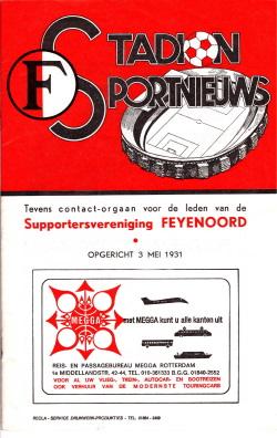 Programma Feyenoord - PSV 1975