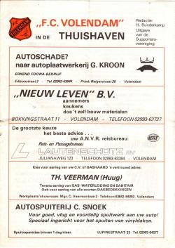 Programma Volendam - Feyenoord