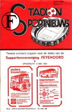 Programma Feyenoord - Roda JC 1979
