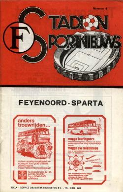 Programma Feyenoord - Sparta