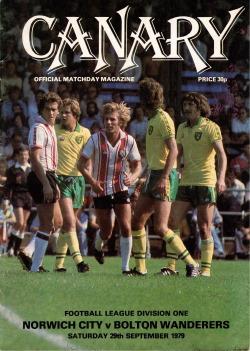 Programma Norwich City Bolton Wanderers 1979