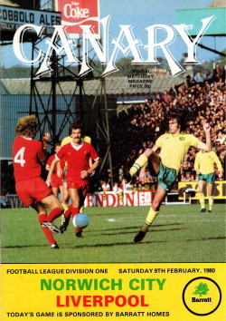 Programma Norwich City - Liverpool 1980