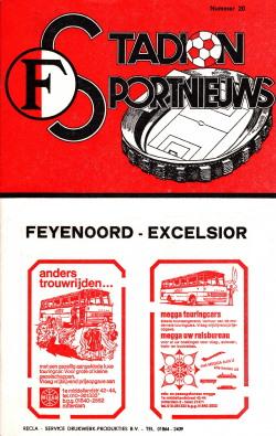 Programma Feyenoord - Excelsior 1980