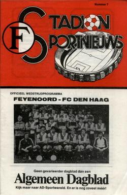 Programma Feyenoord - FC Den Haag