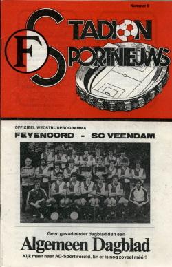 Programma Feyenoord - Veendam