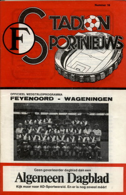 Programma Feyenoord - FC Wageningen