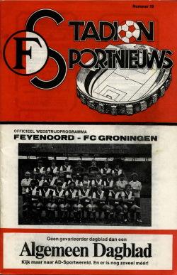 Programma Feyenoord - FC Groningen