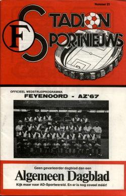 Programma Feyenoord - AZ'67