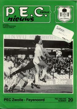 Programma PEC - Feyenoord