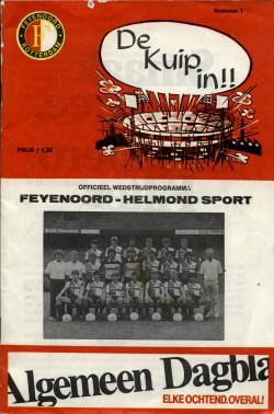Programma Feyenoord - Helmond Sport