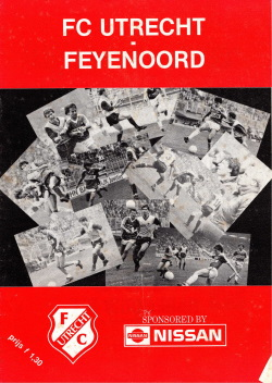Programma FC Utrecht - Feyenoord