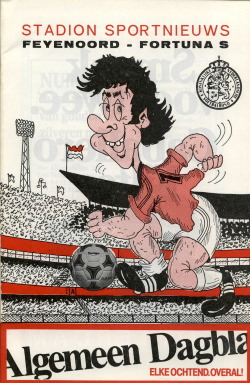 Programma Beker finale Feyenoord - Fortuna Sittard