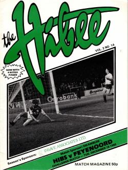 Programma The Hibee Hibernian FC - Feyenoord