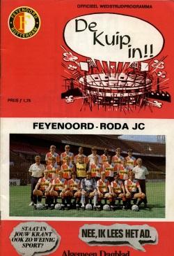Programma Feyenoord - Roda JC
