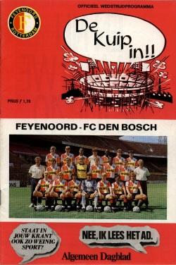 Programma Feyenoord - FC Den Bosch