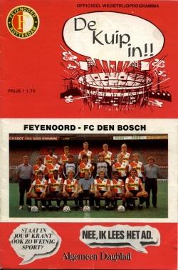 Programma Feyenoord - Den Bosch