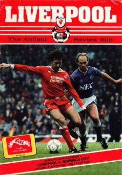 Programma Liverpool - Norwich City 1987