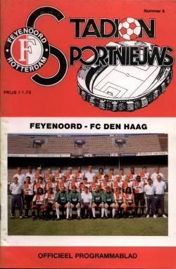 Programma Feyenoord - FC Den Haag 1990