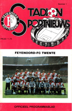 Programma Feyenoord - FC Twente 1991