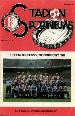 Programma Feyenoord - SVV-Dordrecht '90