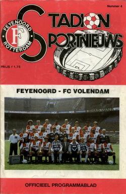 Programma Feyenoord - FC Volendam