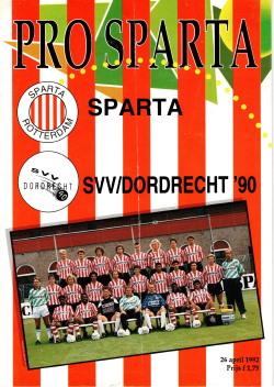Pro Sparta programma Sparta - SVV/Dordrecht '90