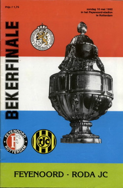 Programma Bekerfinale Feyenoord - Roda JC