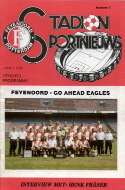 Programma Feyenoord - Go Ahead Eagles