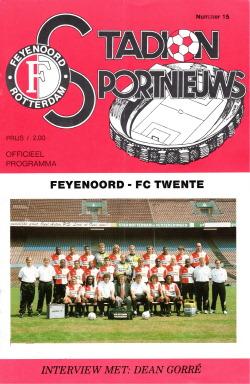 Programma Feyenoord - FC Twente
