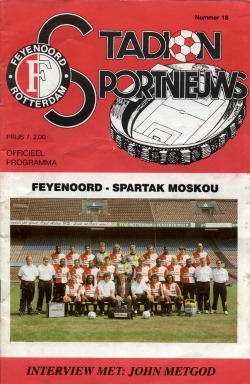 Programma Feyenoord - Spartak Moskou