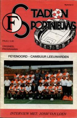 Programma Feyenoord - Cambuur
