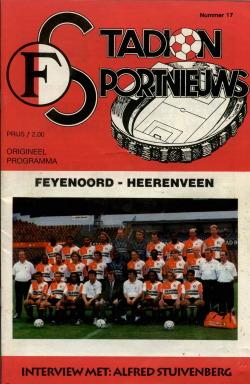 Programma Feyenoord - Heerenveen