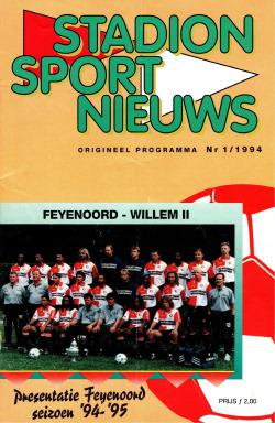 Programma Feyenoord - Willem II