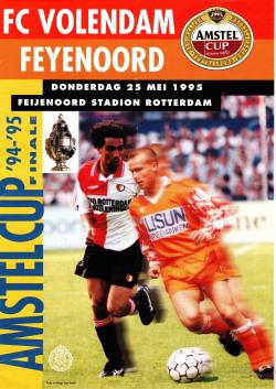 Programma Amstel Cup Finale Volendam - Feyenoord